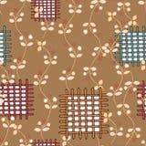 Versiering met flard naadloos patroon op beige achtergrond vector illustratie
