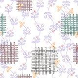 Versiering met flard naadloos patroon op witte achtergrond Vector royalty-vrije illustratie