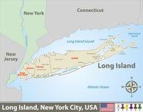 ?versikt av Long Island royaltyfri illustrationer
