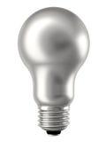 Versilbern Sie die Glühlampe, die auf Weiß getrennt wird Lizenzfreies Stockbild