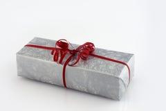 Versilbern Sie Geschenkkasten Stockfotografie