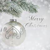 Versilbern Sie Weihnachtskarte Lizenzfreies Stockfoto