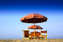Versilia и свой пляж Стоковая Фотография
