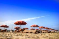 Versilia и свой пляж Стоковое Изображение