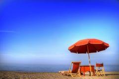 Versilia и свой пляж Стоковые Фотографии RF