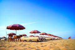 Versilia и свой пляж Стоковое фото RF