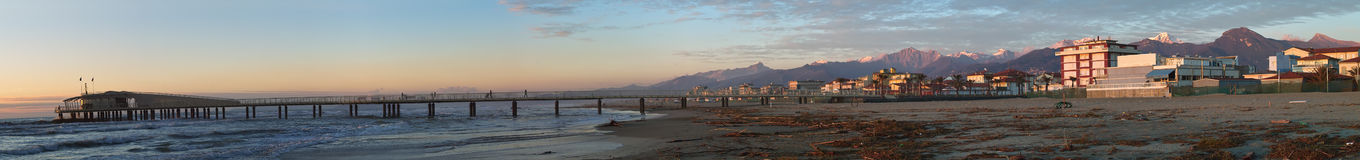 Versilia and Apuan Alps Stock Photo
