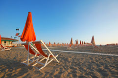 Versilia beach royalty free stock photo
