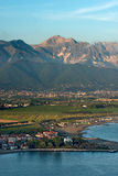 Versilia Coast and Apuan Alps - Italy Stock Photo