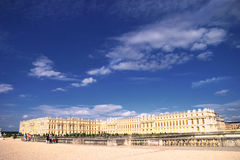Versilles with sky. Palce and ganrdens Versailles, national landmark of France Stock Photos