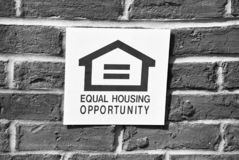 Equal Housing Opportunity Crest in Black and White. Equal Housing Opportunity  Crest in Black and White, Housing Opportunity All real estate advertised herein is royalty free stock images