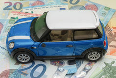 Version 2013 bleu-clair de voiture de Mini Cooper Photo stock