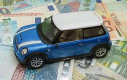 Version 2013 bleu-clair de voiture de Mini Cooper Photos stock