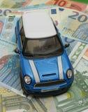 Version 2013 bleu-clair de voiture de Mini Cooper Images libres de droits