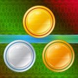 Version C de guilloche de ruban de médailles Photographie stock libre de droits