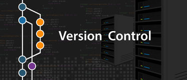 Version control programming computer server coding Stock Images