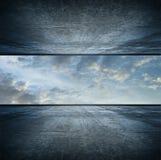 version de grand dos de ciel de pièce images libres de droits