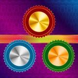 Version A de guilloche de ruban de médailles Photo stock