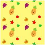 Version de jaune d'illustration de modèle de bande dessinée de fruit Photographie stock