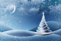 version glaciale d'arbre de Noël Image libre de droits