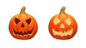 Version Halloween-Kürbise zwei lizenzfreies stockfoto
