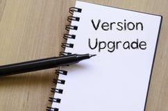 Version upgrade write on notebook Royalty Free Stock Photo