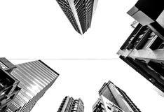 Versione in bianco e nero di Hong Kong, Cina fotografia stock libera da diritti