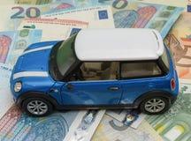 Versione blu-chiaro 2013 dell'automobile di Mini Cooper Immagine Stock Libera da Diritti