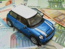 Versione blu-chiaro 2013 dell'automobile di Mini Cooper Fotografie Stock Libere da Diritti