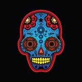 Versione colorata cranio dello zucchero Fotografie Stock