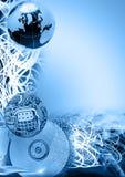 Versione comunicazione-Blu di dati Immagine Stock