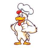 Versione di Chicken Thumb Up del cuoco unico fotografie stock libere da diritti