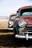 Versione di verticale delle automobili dell'annata Fotografia Stock