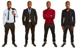 Versiones del hombre africano con diversos equipos Foto de archivo libre de regalías