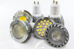 Versioni differenti dei chip del LED per GU10 Fotografia Stock Libera da Diritti
