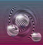 0 versions en verre procurables de 8 sphères d'ENV Images stock