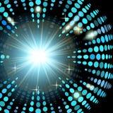 Versionsdiscohintergrund mit Lichteffekten Lizenzfreies Stockfoto