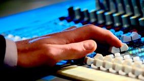 Verslag van geluid in een studio Stock Fotografie