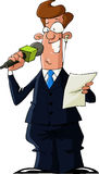 Verslaggever stock illustratie