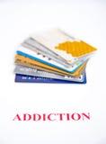 Verslaving aan krediet? Stock Foto's
