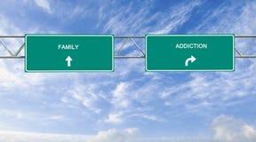 Verslaving en familie Royalty-vrije Stock Afbeeldingen
