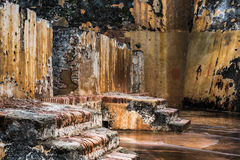 Verslechterende stappen van Castillo San Felipe del Morro Royalty-vrije Stock Foto