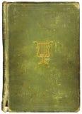 Versleten antiek boek met Muzikaal Symbool Stock Afbeeldingen