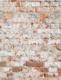 Versleten bakstenen muur Royalty-vrije Stock Afbeeldingen