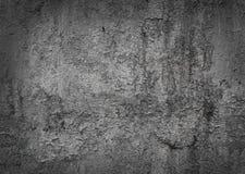 Versleten beschadigde geschilderde het patroonachtergrond van de metaaltextuur met het effect van het vignetkader Donkere grijze  Stock Afbeelding