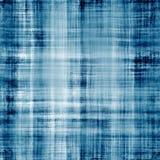 Versleten blauwe stoffentextuur met zichtbare draden Royalty-vrije Stock Foto