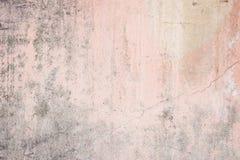 Versleten bleek - roze concrete muurtextuur Royalty-vrije Stock Fotografie