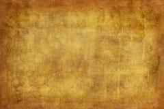 Versleten, geweven achtergrond in geel en bruin Royalty-vrije Stock Afbeeldingen