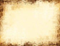 Versleten geweven grungy grens Stock Fotografie