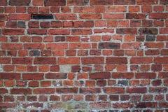 Versleten Rode Bakstenen muurachtergrond Stock Fotografie